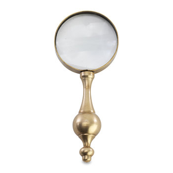 Ndasa Magnifying Glass - Antique Brass