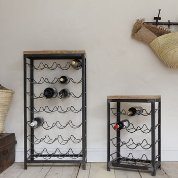 Obra Industrial Wine Rack - Mango Wood