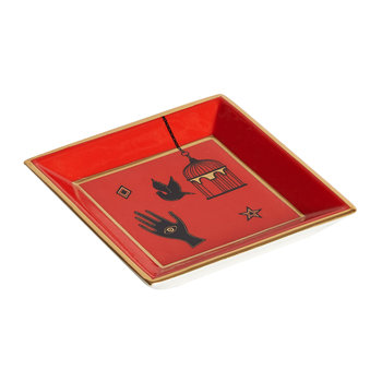 Bijoux Square Tray - Red