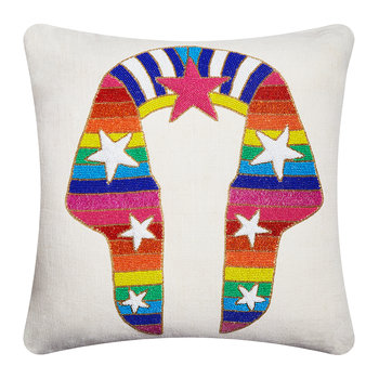 Sphinx Beaded Pillow - 50x50cm