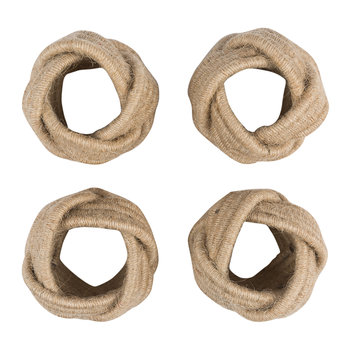 Knotted Napkin Ring - Set of 4
