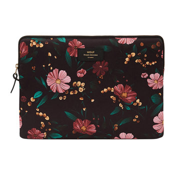 Black Flowers Laptop Case - 13""