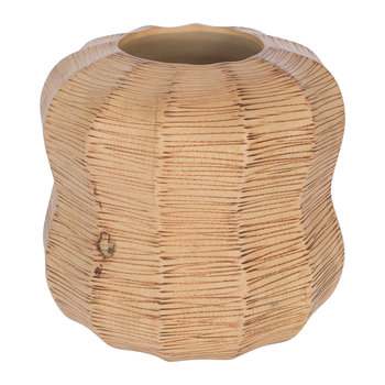 Wicker Effect Wooden Vase
