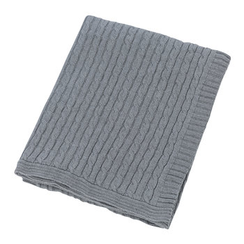Cable Knit Travel Kit - Light Grey