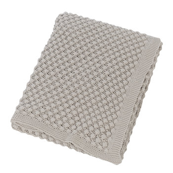 Textured Knitted Throw - 130x170cm - Grey