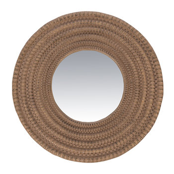 Rope Look Round Border Wall Mirror