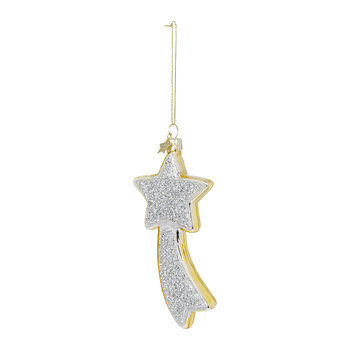 Falling Star Tree Decoration - Silver/Gold