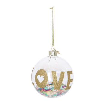 Love with Multi Sequins Bauble