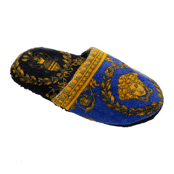 I Love Baroque Slippers - Black/Blue/Gold