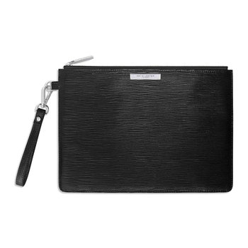 Zara Metallic Clutch Bag - Black
