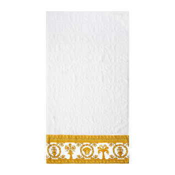 I Loved Baroque Towel - White/Gold