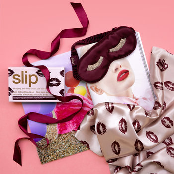 Mascara Lashes Sleep Mask - Burgundy