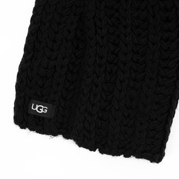 Women's Chunky Knit Scarf - Black