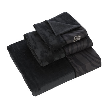 Macro Zebrage Towel - Dark Grey