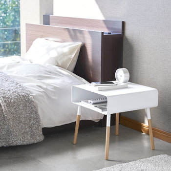 Plane Low Side Table - White