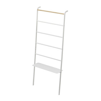 Tower Ladder With Rack - Wide - White