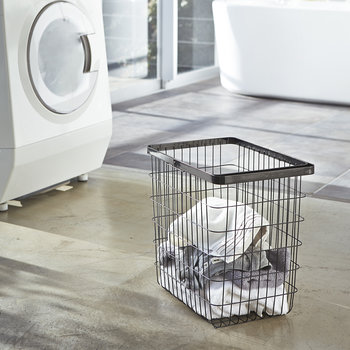 Tower Wire Laundry Basket - Black