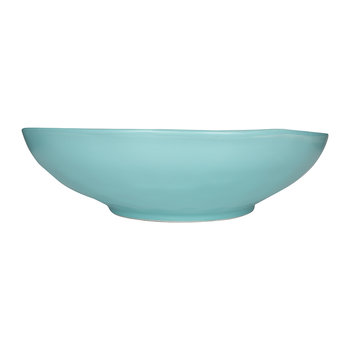 Beach Crackle Serving Bowl - Turquoise