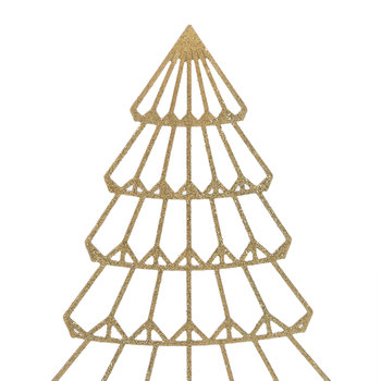 Gold Metal Tree Ornament