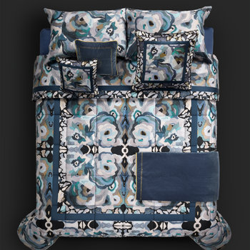 Caleidoflora Silk Throw - 130x180cm - Blue