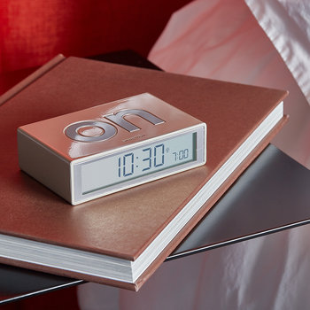 Flip+ Travel Alarm Clock - Aluminium