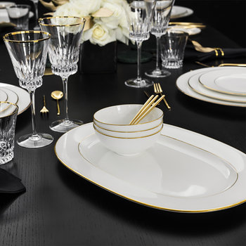 Plateau oval Anmut Gold