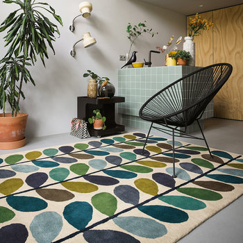Multi Stem Rug - Kingfisher