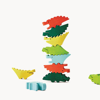 Croc Pile Mini Building Blocks - Set of 10 - Multi