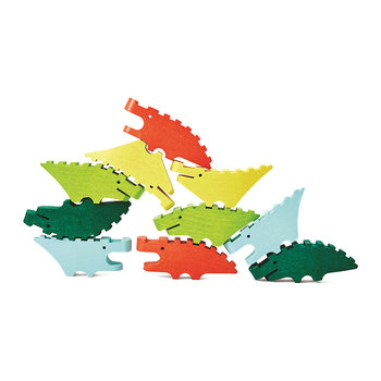 Mini Blocs de Construction Croco Pile - Lot de 10 - Multicolore