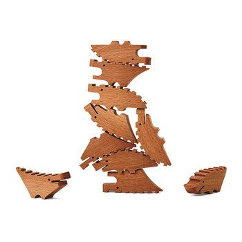 Mini Blocs de Construction Croco Pile - Lot de 10 - Naturel