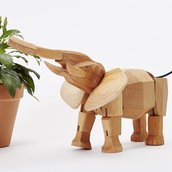 Hattie the Elephant Wooden Toy