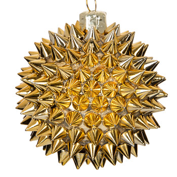 Spiked Tree Decoration - Gold