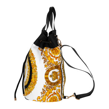 I Love Barocco Beach Bag - Gold/White/Black