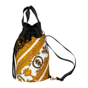 Barocco&Robe Beach Bag - White/Gold/Black