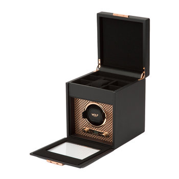 Copper Watch Winder with Storage