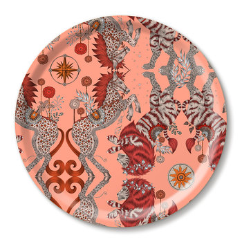 Caspian Round Tray - Coral