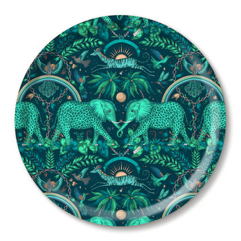 Zambia Round Tray - Teal