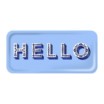 'Word' Rectangular Tray - Hello