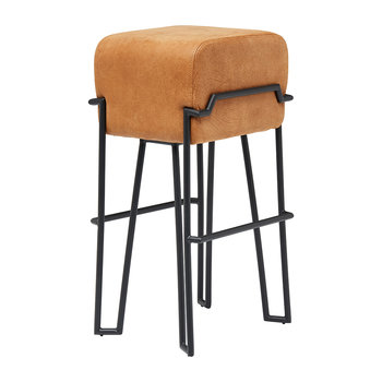 Bokk Leather Bar Stool - Cognac