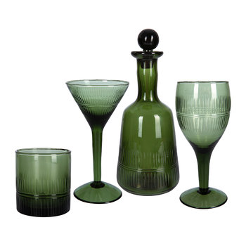 Mila Wine Glass - Dark Emerald