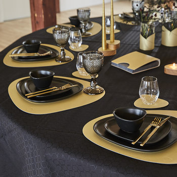 Hippo Curve Table Mat - Gold - Large