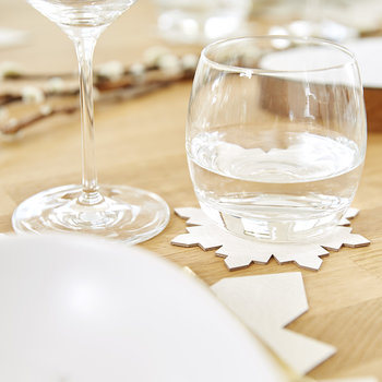 Snowflake Drinks Coaster - White