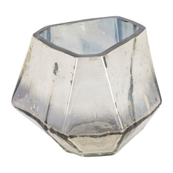 Irregular Tealight Holder - Silver