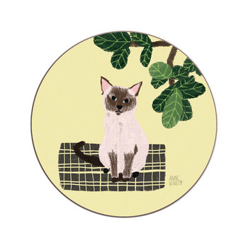Anne Bentley Cats Coaster - Siamese
