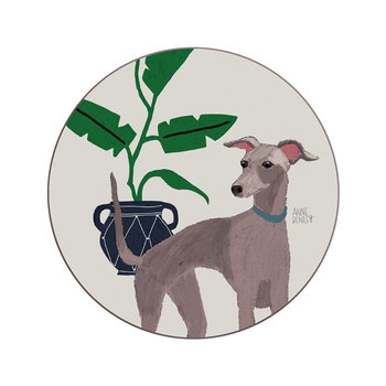 Anne Bentley Dogs Coaster - Whippet