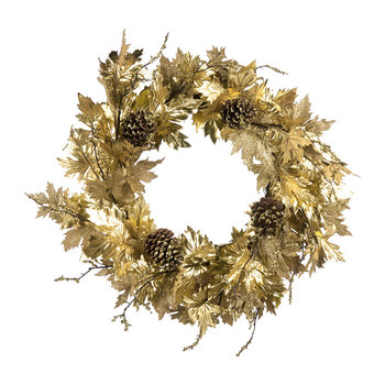 Maple Leaf Wreath - Gold