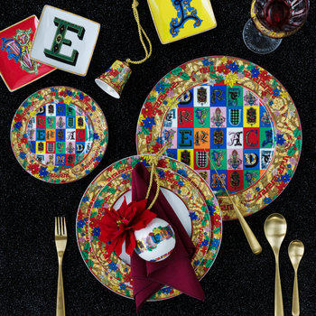 Christmas Alphabet Charger Plate