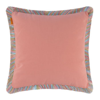 Poitiers Boivre Cushion with Trims - 45x45cm - Pink