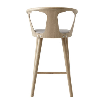 Counter Wooden Stool - White