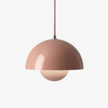 Flowerpot Pendant Light - Beige Red
